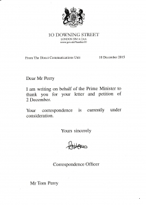 No10 acknowledgement